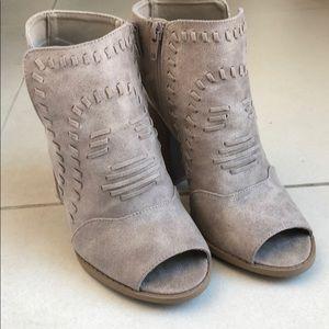 Cute peep toe boots